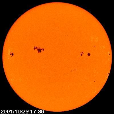 Słońce z 29 października 2001 roku
