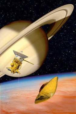 Huygens nurkuje w atmosferę Tytana