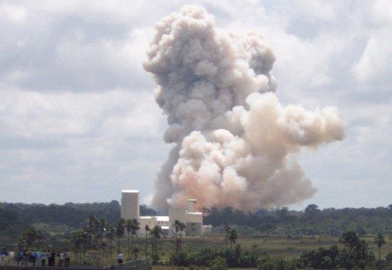 Próbny zapłon rakiety pomocniczej