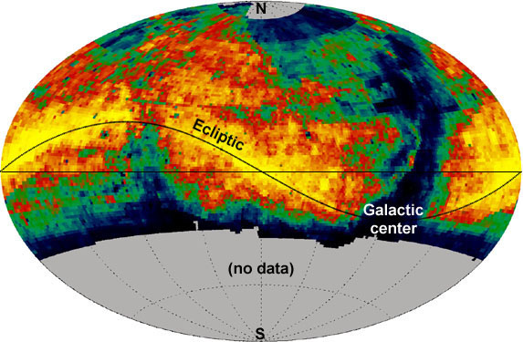 Mapa sfery niebieskiej opracowana przez LINEAR