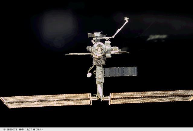 ISS z pokładu Endeavoura