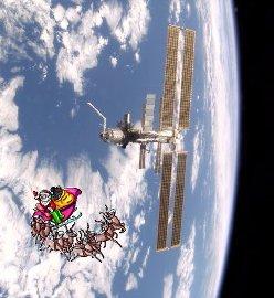 Święty Mikołaj odwiedza Stację Kosmiczną