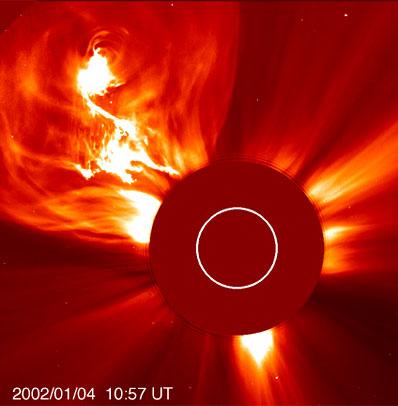 Erupcja słoneczna z 4 stycznia 2002