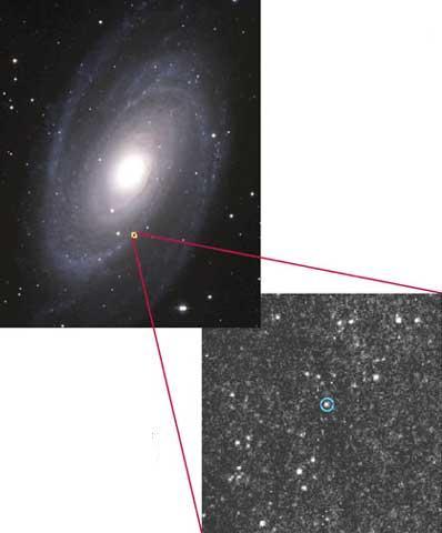Średnia czarna dziura w M81