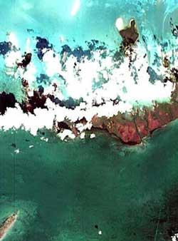 Zdjęcie brzegów Kuby wykonane przez PROBA