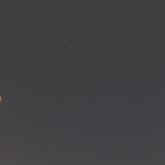 Księżyc i Wenus 18 maja 1999 roku