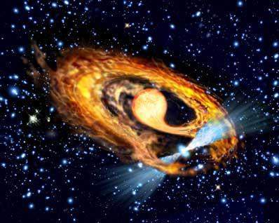 Układ podwójny pulsar - czerwony olbrzym