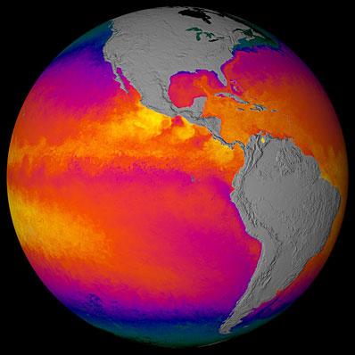 Pomiary temperatury wód Pacyfiku