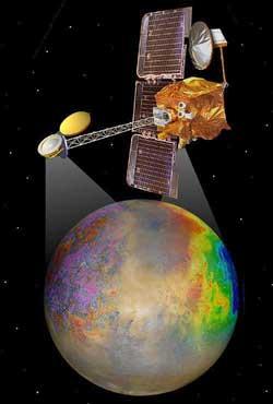 Artystyczna wizja sondy Mars Odyssey