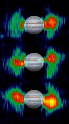 Pasy promieniowania wokół Jowisza