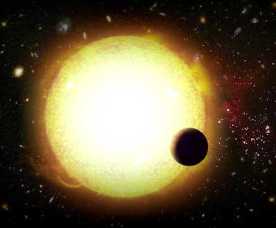 Gwiazda z krążącą wokół planetą