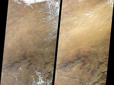 Burze pyłowe nad Chinami