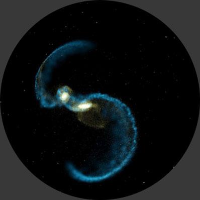 Etap kolizji galaktyk spiralnych