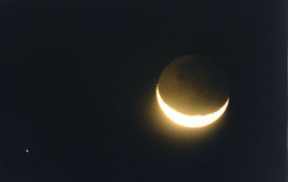Koniunkcja Księżyca i Saturna