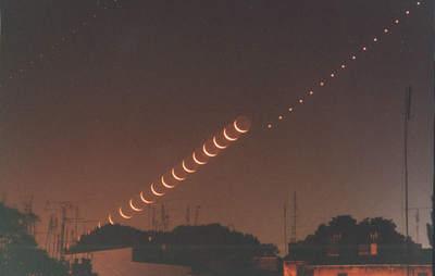 Wschód Księżyca i Wenus