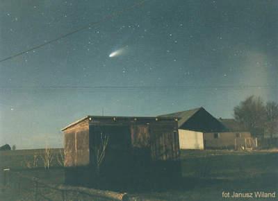 Kometa Hale-Boppa koło Sopotu