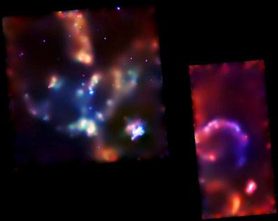 Mgławica Tarantula w promieniowaniu rentgenowskim