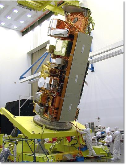 Budowa satelity Aqua