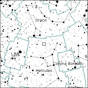 Położenie komety Ikeya-Zhang 10 maja 2002 roku