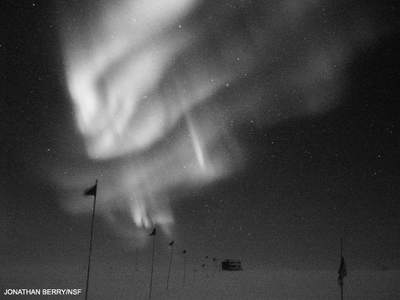 Zorza polarna nabiegunie południowym