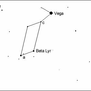 Okolice gwiazdy zmiennej Beta Lyrae