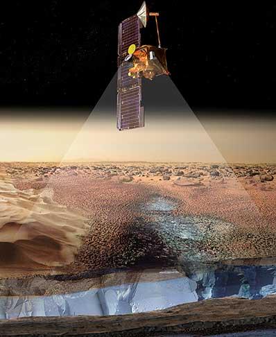 Mars Odyssey odkrywa wodę na Marsie