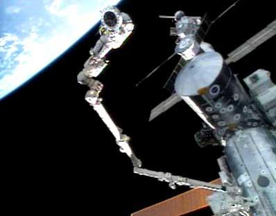 Chang-Diaz podczas spaceru kosmicznego
