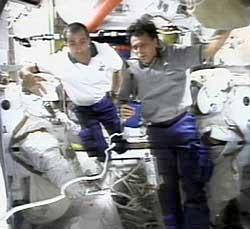 Franklin Chang-Diaz i Philippe Perrin na ISS