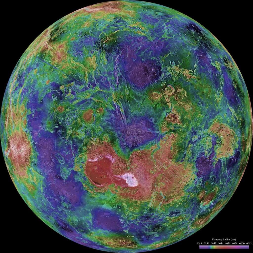 Radarowy obraz powierzchni Wenus