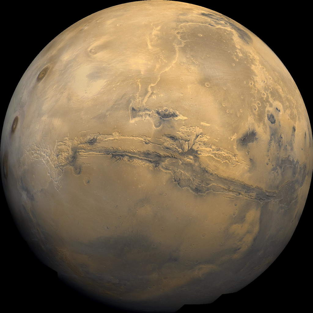 Valles Marineris na Marsie