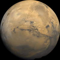 Valles Marineris na Marsie