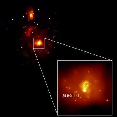 Galaktyka M51 wobiektywie Chandry