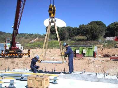 Budowa nowej anteny systemu DSN