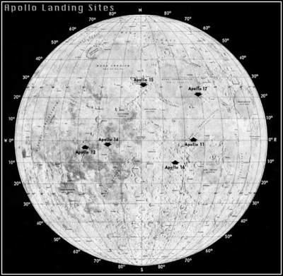 Lądowanie ludzi naKsiężycu - mapa