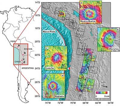 Cztery nowe wulkany w Ameryce Południowej