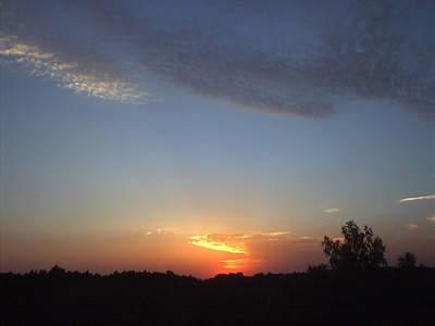 Zachód Słońca widziany z Załęcza