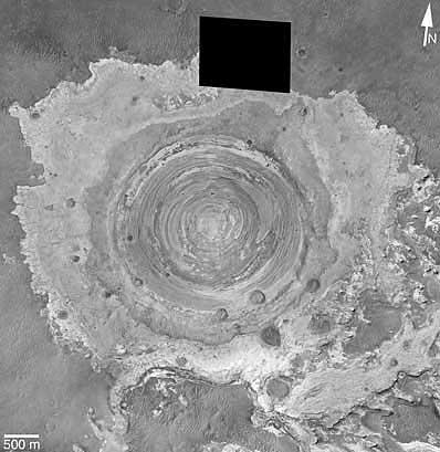 Krater w Terra Meridian