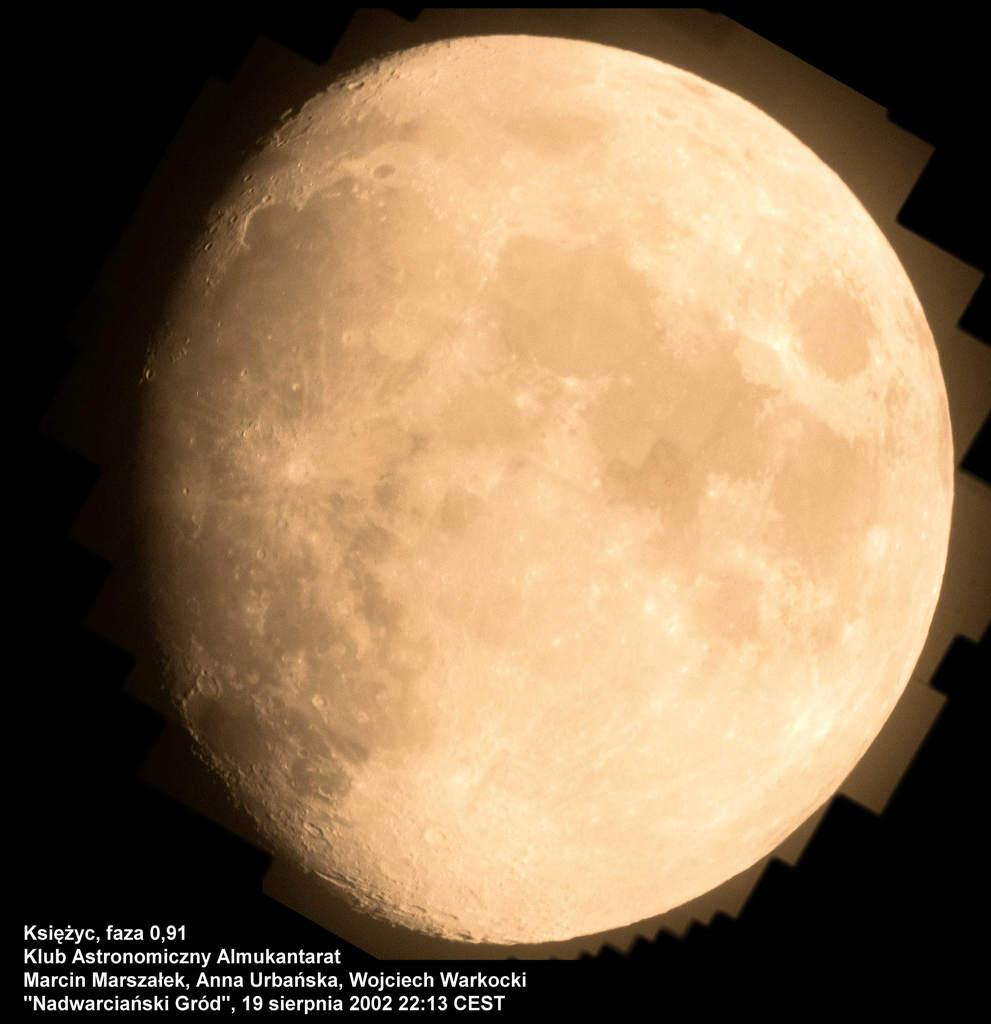 Księżyc, 19 sierpnia 2002 godzina 22:13