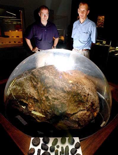 Tektyty z Muzeum Meteorytów