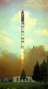 Start rakiety Kosmos-3M z kosmodromu w Plesiecku