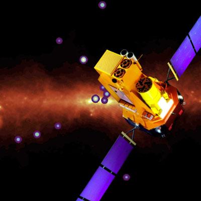 Artystyczna wizja satelity Integral