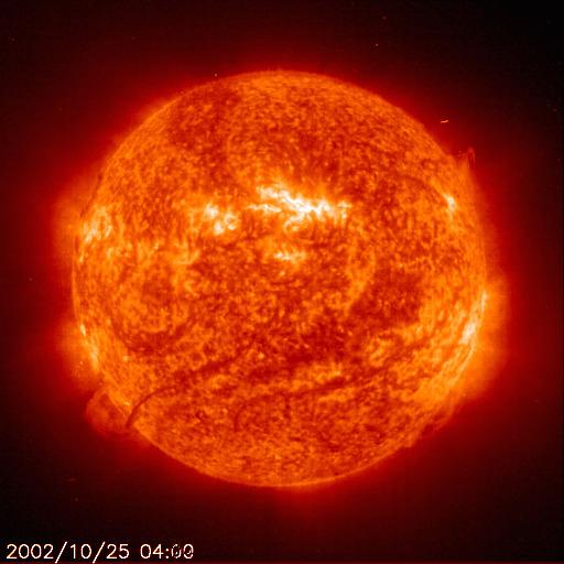 Erupcja słoneczna, 25 października 2002