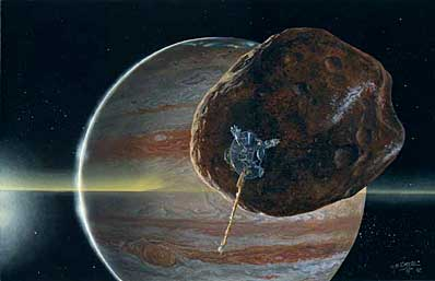Galileo w pobliżu Amalthei
