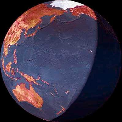 Wizja Ziemi na podstawie danych ze światła popielatego