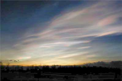 Chmury nad Arktyką