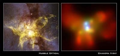 Dwa obrazy NGC 6240