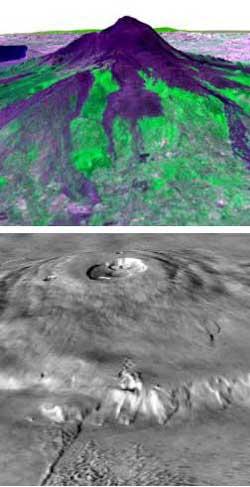Etna i Olympus Mons