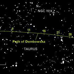 Planetoida 349 Dembowska w grudniu 2002 roku