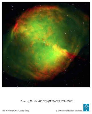 Mgławica planetarna Hantle według VTL