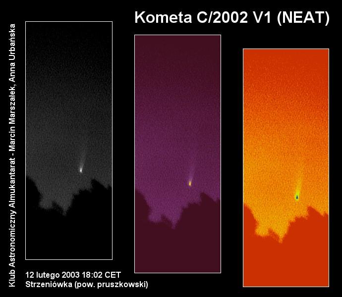 Kometa C/2002 V1 (NEAT), 12 lutego 2003 godzina 18:02